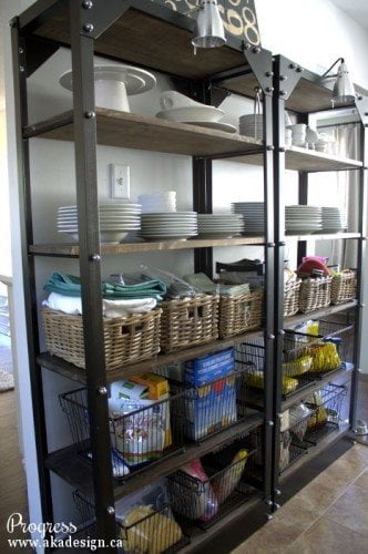 Wire Shelf Pantry Organization