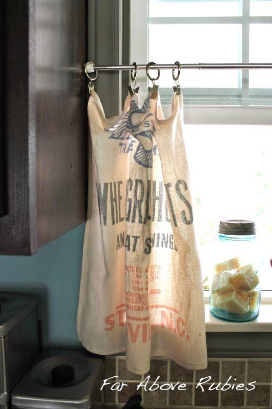 vintage grain bags