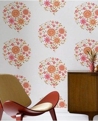 orange accent wallpaper - graham brown