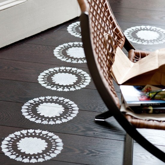 floor stencil - house to home co.uk