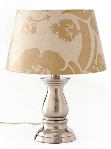 Wallpaper scraps table lamp