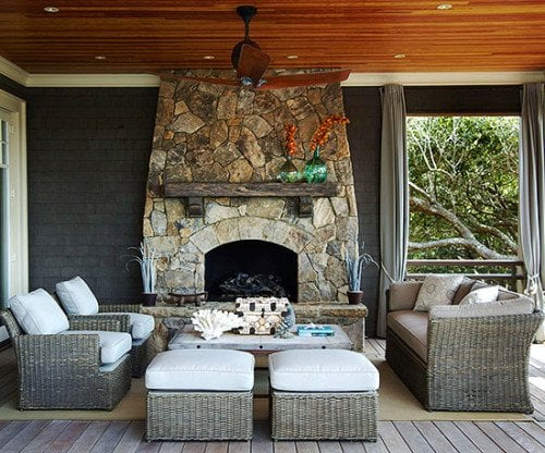 bhg - outdoor fireplace