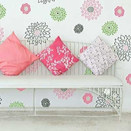Wall Stencils - Color Combinations, Tutorials and Guides -Decorated Life