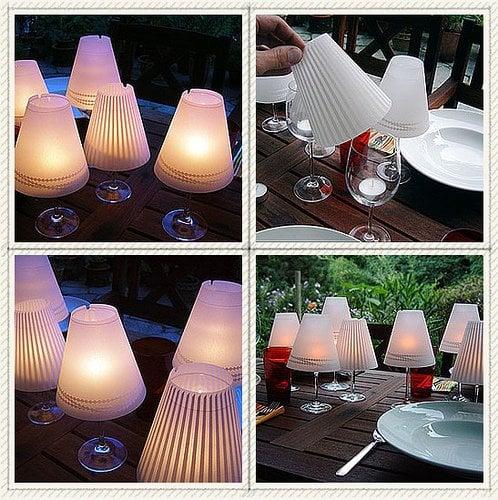 wine glass candle lamp mrsdesignher