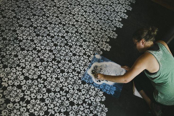 Painted Concrete Floors Concrete Floor Paint Tutorial Videos