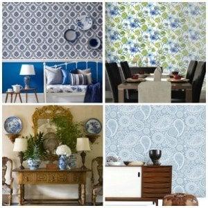 blue wallpaper selection - Graham Brown