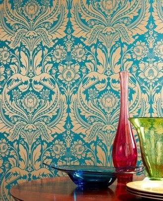 damask wall paper - source - grahambrown.com