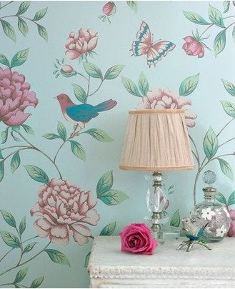french inspired wallpaper - source grahambrown.com