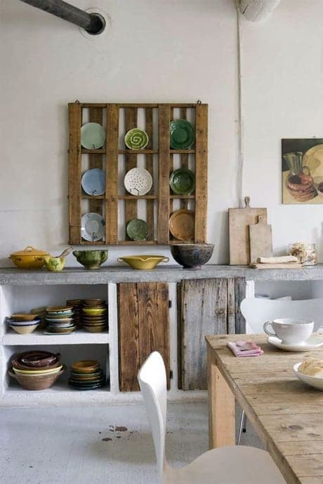rustic-style-kitchen - Source - imsovintage.blogspot.com.au