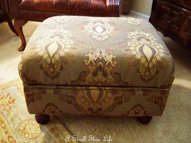 covered ottoman - a stroll thru life