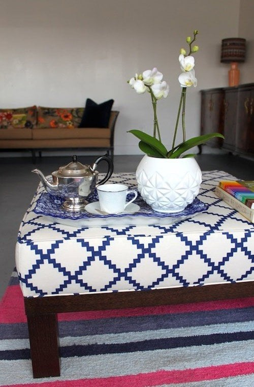 how to make an ottoman - round, square, tufted + storage