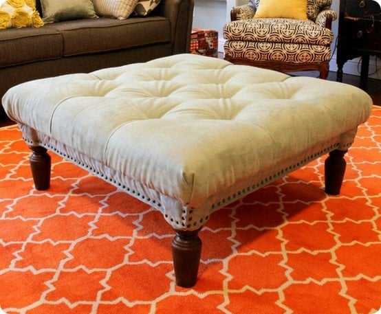 how to make an ottoman round square tufted storage decorated