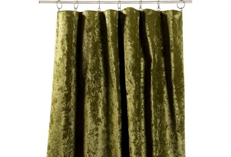 Green velvet curtains