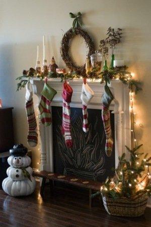 ana white - chalkboard fireplace