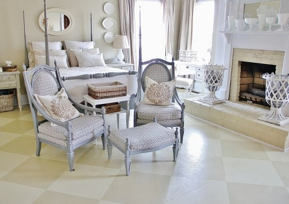 Fun Checkerboard Pattern for Painted Floors