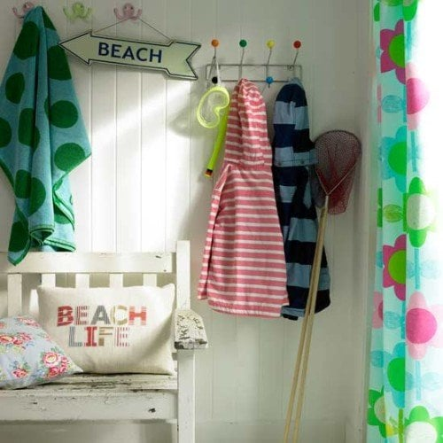 beach decor hallway