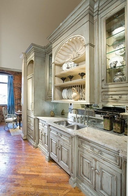 Chalk Paint Kitchen Finish