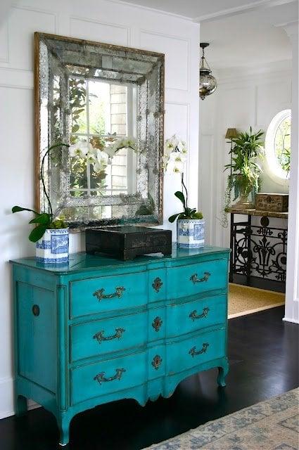 turquoise dresser - pinterest
