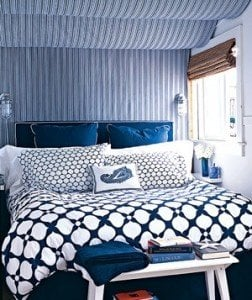 soothing blue bedroom