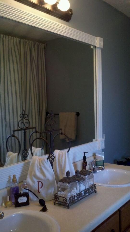 upcylce bathroom mirror - pinterest