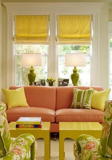 yellow accents - apartment therapy