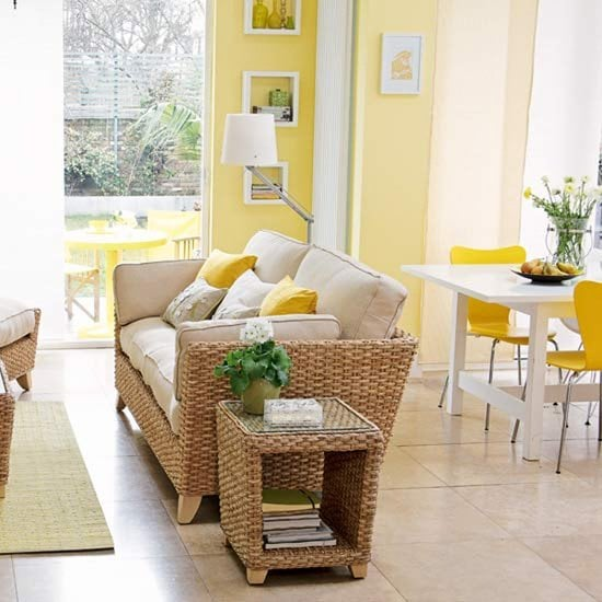 2014 home decor trends interior decorating accessories Yellow living room accessories