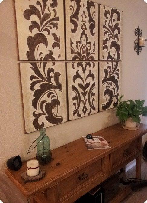 knock off decor damask wall art