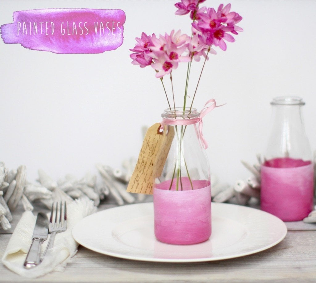 painted-glass-bottle-vases - katescreativespace