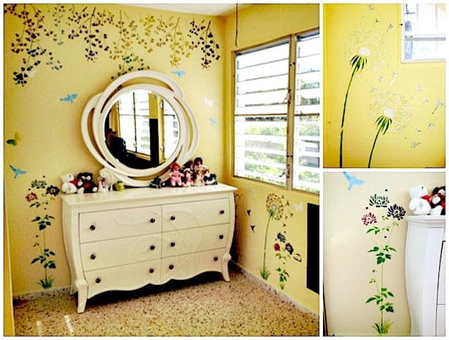 shayna - bedroom - after wall decal detail