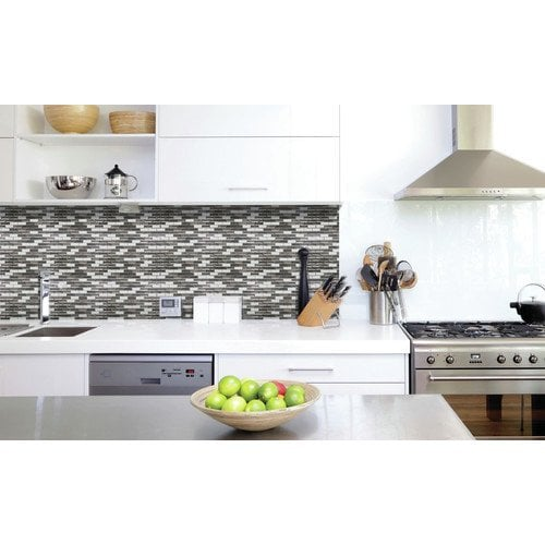 adhesive backsplash tiles kitchen peel and stick backsplash kitchen bathroom wall 3990