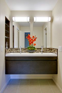 wall attached vanity