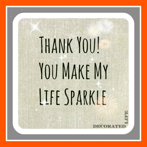 Thank you from Decorated Life