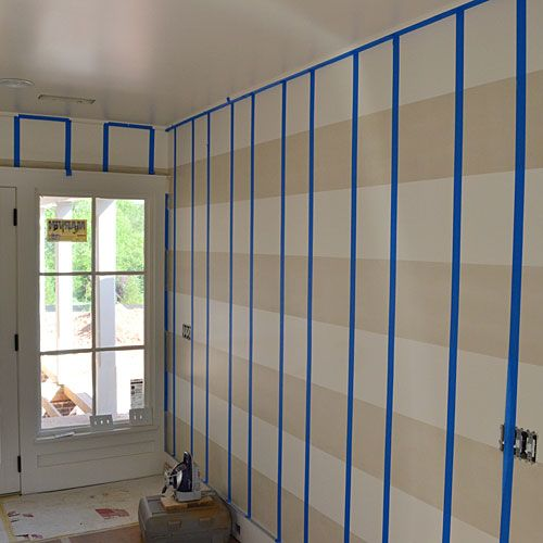 pinterest how to paint gingham walls