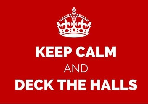 keep calm and keep decorating