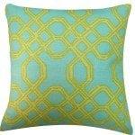 yellow and green cushion