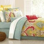 amazon yellow floral comforter