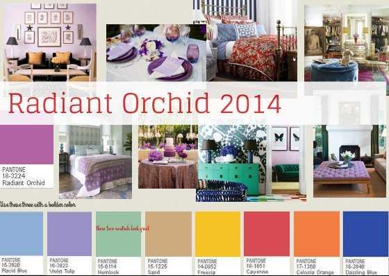 radiant orchid color palettes 2014