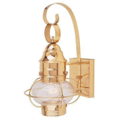 Cordelia Wall Mount Outdoor Polished Brass 7_inch Lantern