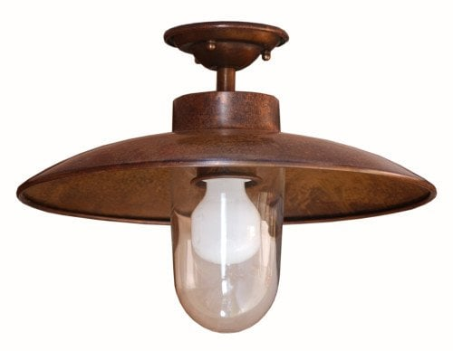 Nabucco LAR 185 Exterior Ceiling Mount by: Ollier Distributors, Inc.- Brass Patina