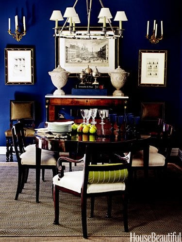 housebeautiful blue glam color scheme