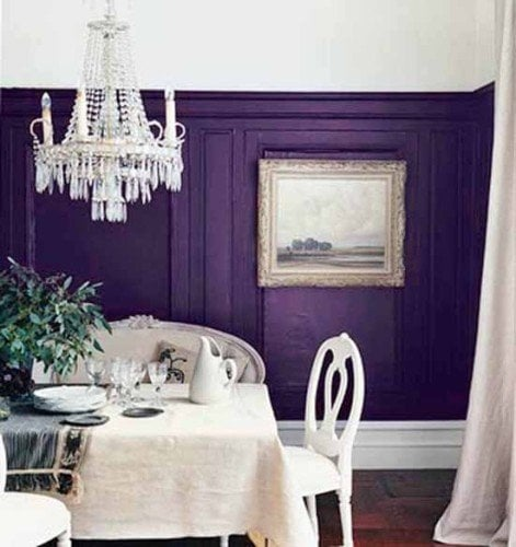 purple home decor glamor