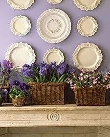 hanging plates on wall - budget decor