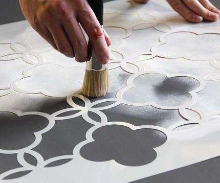 Roller Blinds Rockstar Using Stencils Decorated Life