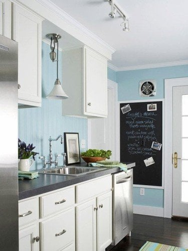 10 ways to use blue paint colors blue color of the year for Dark blue kitchen paint