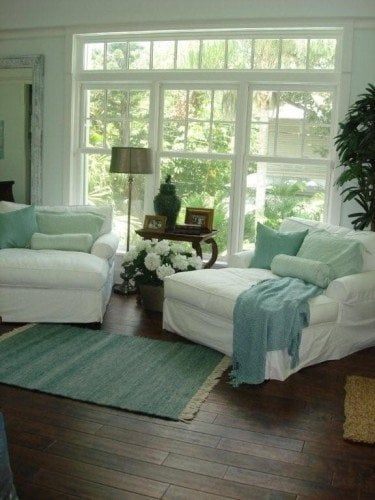 pale blue paint colors with sage and white