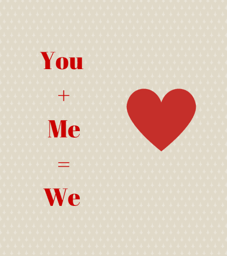 You +Me=We(1)