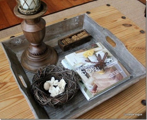 ottoman coffee table trays and styling - videos and tutorial