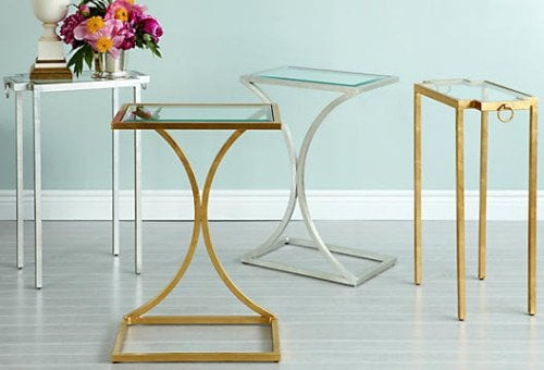 brass and other metal tables