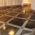 Painted Concrete Floors & Stained Concrete Floor Ideas