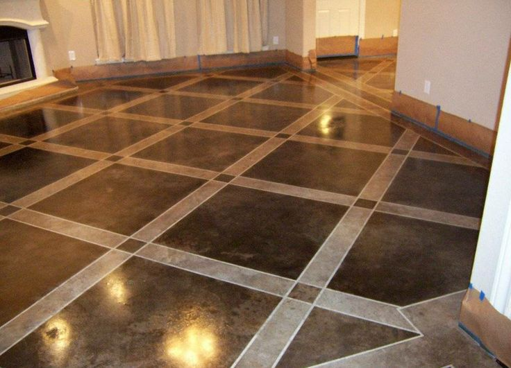 Painted concrete floors concrete floor paint tutorial for Getting grease off concrete